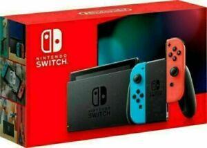 🔥 NEW Nintendo Switch Console V2 w/ Neon Joy Cons 32GB Memory 🔥