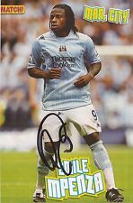 MAN CITY: EMILE MPENZA SIGNED A4 (12x8) MAGAZINE PICTURE+COA