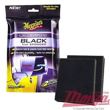 NOUVEAU!!! Meguiars Ultimate Noir Voiture & Moto Plastique Restaurateur Trim éponges