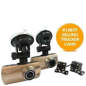 4 Camera 1080P Trucker Dash Cam - Includes 4 Cams (2 Outdoor Cams)