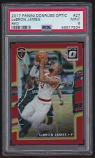 2017-18 Lebron James Donruss Optic Red Prizm BGS 9 MINT #27  67/99