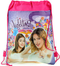 Violetta 2 Girls Children Cartoon Bag Drawstring Backpack Kids School Bags:23FE