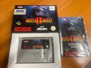 Mortal Kombat II 2 Snes Super Nintendo Boxed PAL CIB