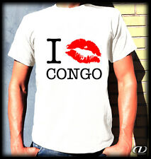 Kult T-Shirt - I KISS CONGO - S-3XL Afrika Kinshasa Kongo Africa Lubumbashi Fun