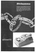 PUBBLICITA' 1953 OLIVETTI DESIGN CALCOLATRICE DIVISUMMA NUMERI OPERAZIONI IVREA