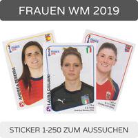 Panini Frauen WM World Cup 2019 - Einzelsticker 1-250 zum aussuchen