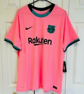 Nike 2020-21 FC Barcelona Vapor Match Authentic Third Jersey Pink Men's Size XL