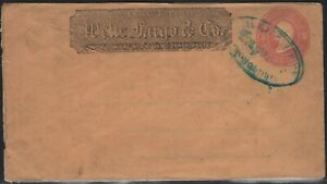 HAWAII WELLS FARGO HONOLULU EXPRESS COVER EXTREMELY RARE!