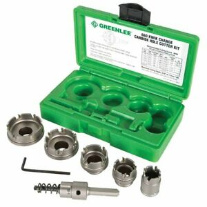 Greenlee 660 Durable Carbide Quick-Change Hole Cutter Kit Stainless Steel - 6pc