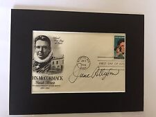 GENUINE HAND SIGNED JUNE ALLYSON FIRST DAY COVER