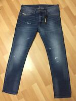 Mens Diesel THAVAR HARD STRETCH DENIM R60F8 Blue Slim W30 L30 H6 RRP£150