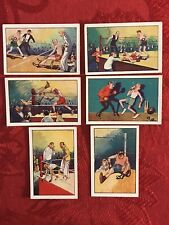 1929 UNITED TOBACCO CO. BOXING-HUMOUR IN SPORT-SCARCE SUBSET OF 6 CARDS-NRMNT