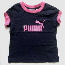 PUMA Mädchen T-Shirt in Blau-Rosa Gr. S mit Pumalogo in rosa auf der Brust