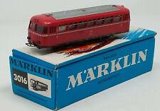 Vintage MARKLIN 3016 DB Railbus Schienenbus Passenger Trailer HO Gauge Boxed