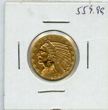 1909 $5 Indian Head Gold Five Dollar Coin