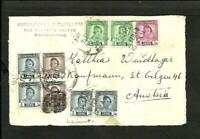 IRAQ TO AUSTRIA FRONT COVER 1948, VERY NICE!