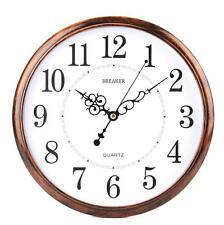 Orologio Da Parete Tondo effetto legno antichizzato 30cm Diametro Breaker 231A
