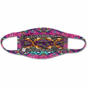 Leopard Aztec Pink One Size Adult Polyester Blend Fabric Face Covering Mask