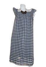 MAX Co by MAX MARA €179 Womens Check Casual Shift Chiffon Party Knee Dress 12 W5