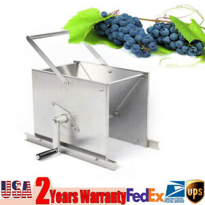 Stainless Steel Fruit Crusher Grape Masher Grinder Apple Juice Wine Cider Press