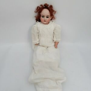 "Antique Armand Marseille 370 A.M.3 DEP Bisque Cloth Doll 21"" Germany"
