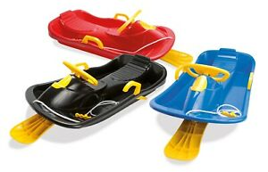 DANTOY ROBUST SLEDGE with BRAKES, PULL CORD & HANDLE A 79cm and STEERING WHEEL