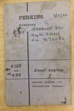 perkins 4.107 & 4.99 diesel engines handbook vintage antique tractor combine