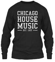 Chicago House Music - Est 1977 Gildan Long Sleeve Tee T-Shirt