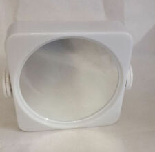 Rectangle White Plastic Frame Bathroom Mirrors