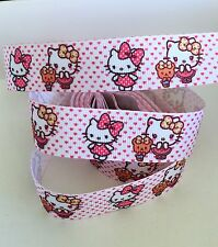YARD HELLO KITTY TEDDY HEARTS GROSGRAIN  RIBBON GIRLS CHARACTER #27