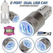 2 in 1 LED UNIVERSALE USB 12-24V Dual Caricabatteria Da Auto Presa Sigaretta Accendino