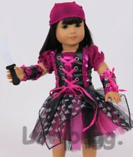 Lovvbugg Purple Punk Pirate Costume for 18 inch Doll Clothes American Girl  Cute