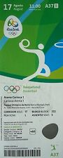 TICKET 17/8/2016 Olympic Games Rio Basketball Men's Australia - Lithuania # A37
