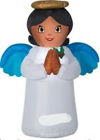 CHRISTMAS 3.5 FT AFRICAN AMERICAN ANGEL  AIRBLOWN INFLATABLE YARD GEMMY-