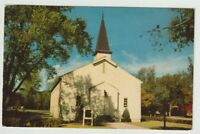 1957 Postmarked Postcard Argonne Chapel FE Warren Air Force Base Cheyenne WY