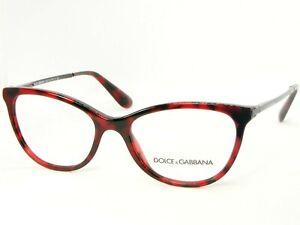 NEW D&G Dolce&Gabbana DG3258 2889 CUBE BORDEAUX EYEGLASSES 3258 52-17-140mm