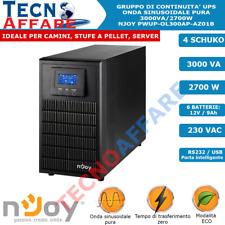 Gruppo Di Continuità UPS Online Onda Sinusoidale Pura 3000VA 2700W Server Njoy