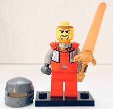 Sir Adric 8822 8823 Knights Kingdom II Bright Red Castle Lego Minifigure + Sword