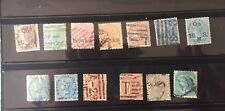 Nice collection of 13 diff. East India ,British rule stamps issued in1865-1876