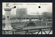 View of Pont Morland, Paris During the 1910 Flood