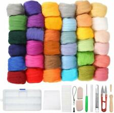 36 Colors Wool Yarn Roving Fibre Hand Spinning Diy Craft for Needle Felting with