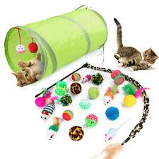 21PC Nette Katze Spielzeug Haustiere Set Cat Tunnel Folding Bälle Maus FedeRSDE