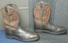 Mens ARIAT Groundbreaker Wide Square H2O Steel Toe Work Boots 12 D