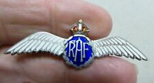 WW1-11 R.A.F WHITE METAL AND ENAMEL WINGS SWEETHEART BROOCH NICE QUALITY