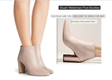 NIB Stuart Weitzman Pure Ankle Boot 7 7.5 String Nappa block heel