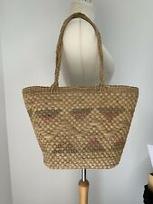 Vintage Woven Straw Beach Shopping Shoulder Bag