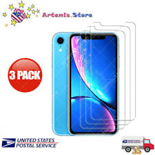 3-Pack for iPhone 11 Pro XS max XR X Tempered GLASS Screen Protector Bubble Free