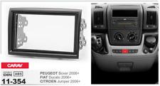 Carav 11-354 2din marco adaptador radio Peugeot Boxer Fiat Ducato Citroen Jumper