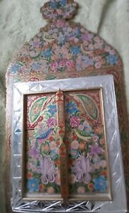 Rare Hand Painted & Crafted Wooden Mirror