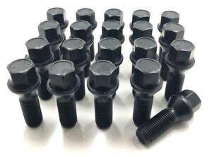 20 X ALLOY WHEEL BOLTS BLACK BMW 1 3 5 SERIES M12 X 1.5 26MM  NUTS LUG STUD (21)